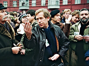 Vaclav Havel, dissident playwright and first president of Czech Republic after fall of communism