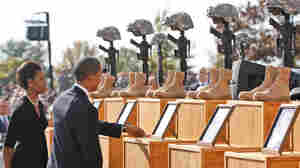 President and Mrs. Obama pay respects at Fort Hood.