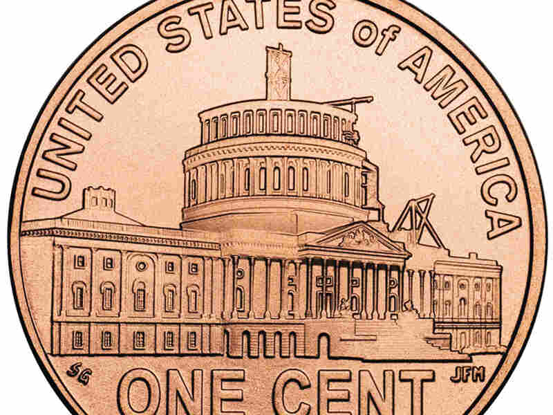 Close-up of new special Abraham Lincoln penny released this month.