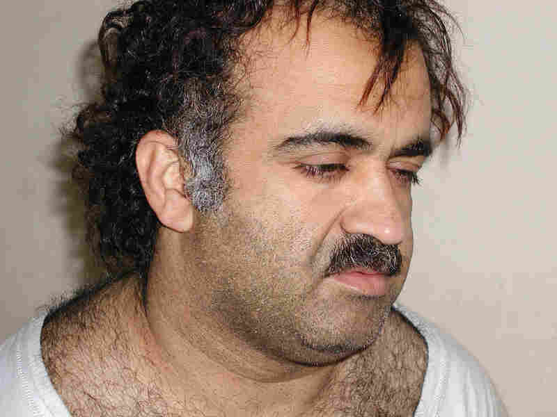 Khalid Sheikh Mohammed, the alleged Sept. 11 mastermind, is seen shortly after his capture in 2003.