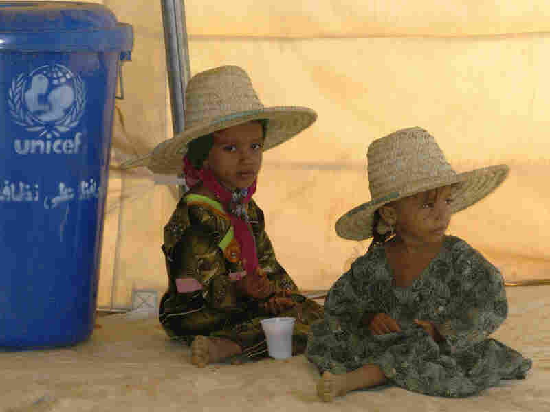Children at the Mazrak camp