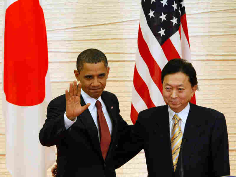 President Obama attends a joint press conference with Japan's prime minister.