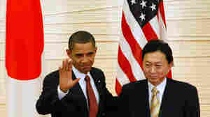 W: President Obama attends a joint press conference with Japan's prime minister.