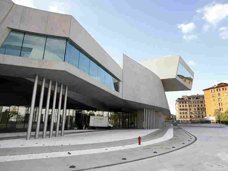 Maxxi museum is a former military barracks in Rome