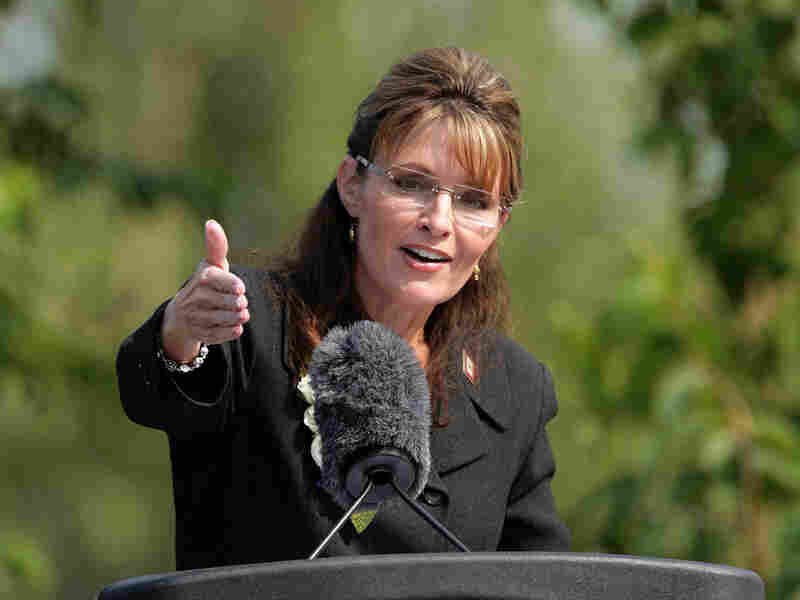 Sarah Palin, seen in July delivering her farewell speech as Alaska's governor.