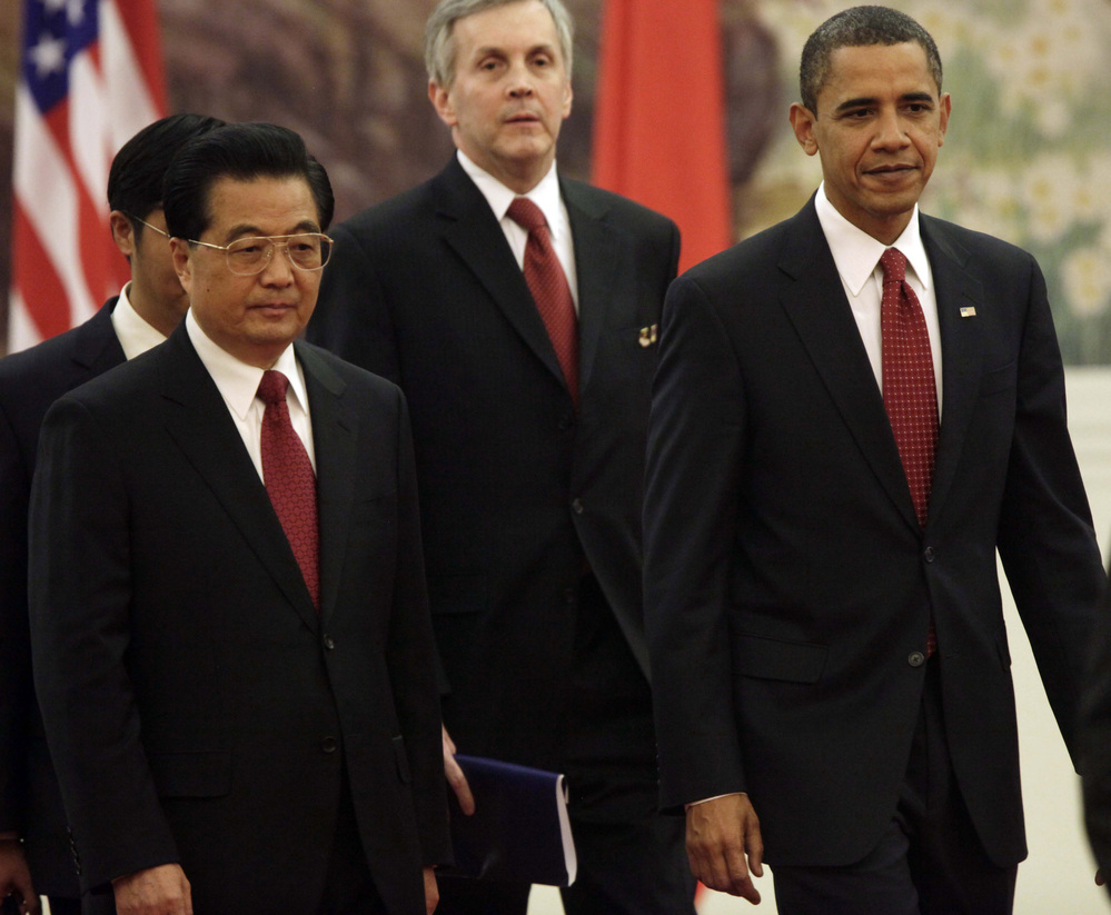 President Obama and Chinese President Hu Jintao