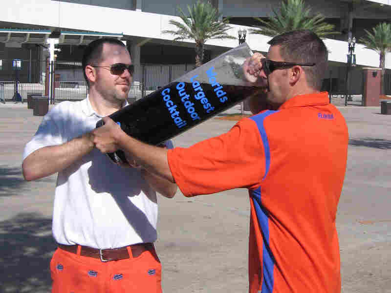 """Florida Gators fans drink the """"World's Largest Outdoor Cocktail."""""""