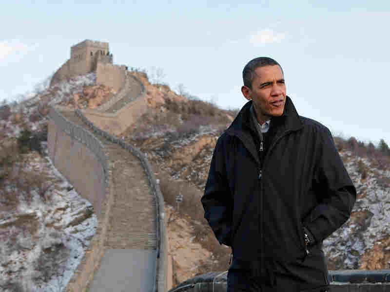 President Obama at Great Wall in China
