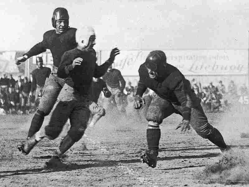 Football has always been a contact sport — even in the 1930s, when Boston and Geneva College played