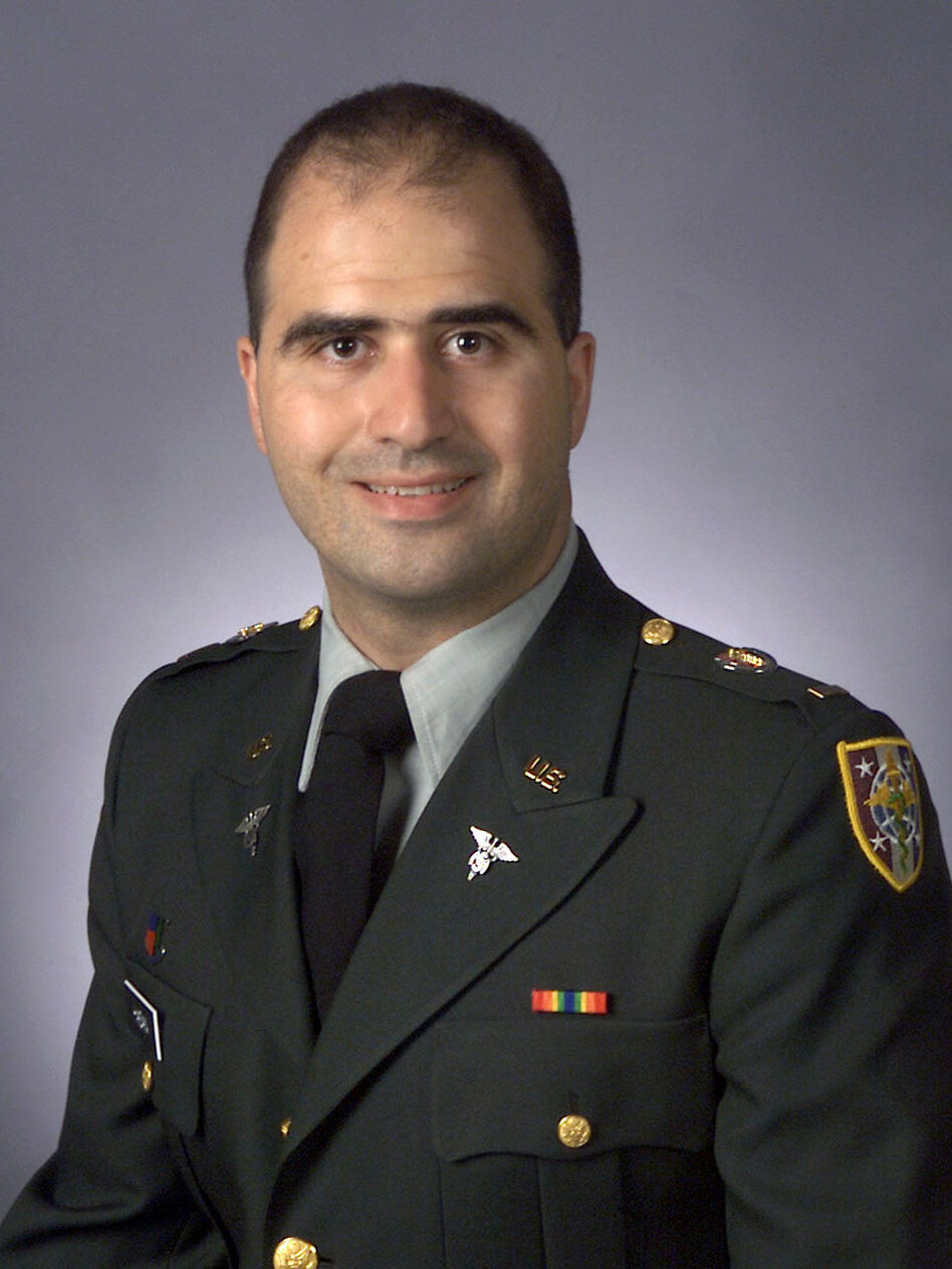 An undated handout photo of Maj. Nidal Hasan, who is accused of killing 13 people at Fort Hood, Texas, earlier this month.