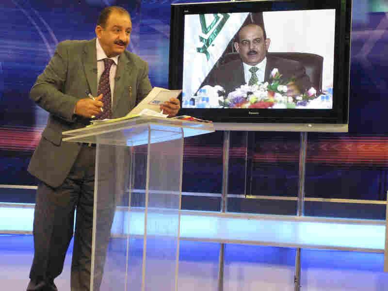 Ala Muhsin hosts the popular Iraqi TV call-in show 'Hotline'