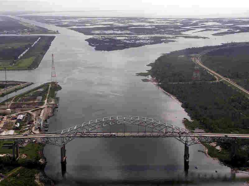 This 2006 file photo shows the Mississippi River Gulf Outlet splitting off to the right.