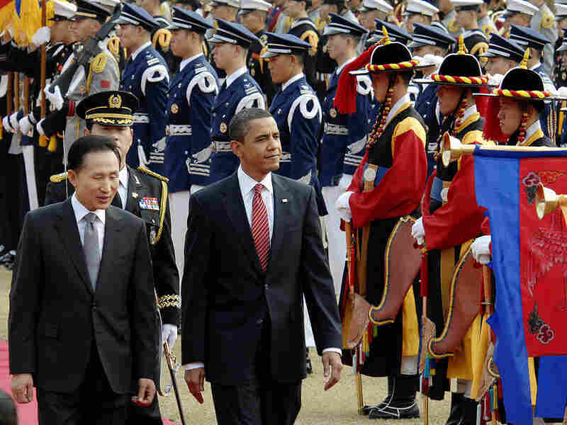 South Korean President Lee Myung-bak and President Obama