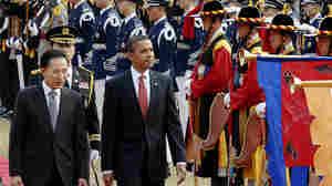 South Korean President Lee Myung-bak and President Obama