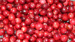Cranberries, washed and ready to go into Susan Stamberg's relish.