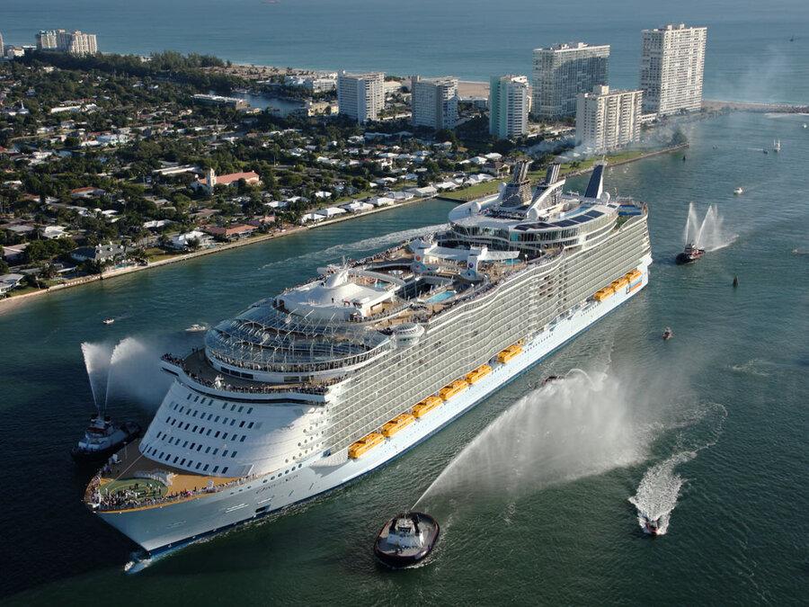Gigantic Cruise Ship Buoys Companys Hopes NPR - Oasis of the seas cruise ship prices