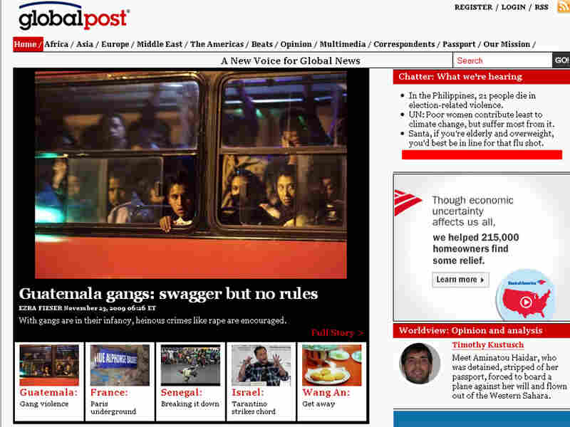 GlobalPost home page
