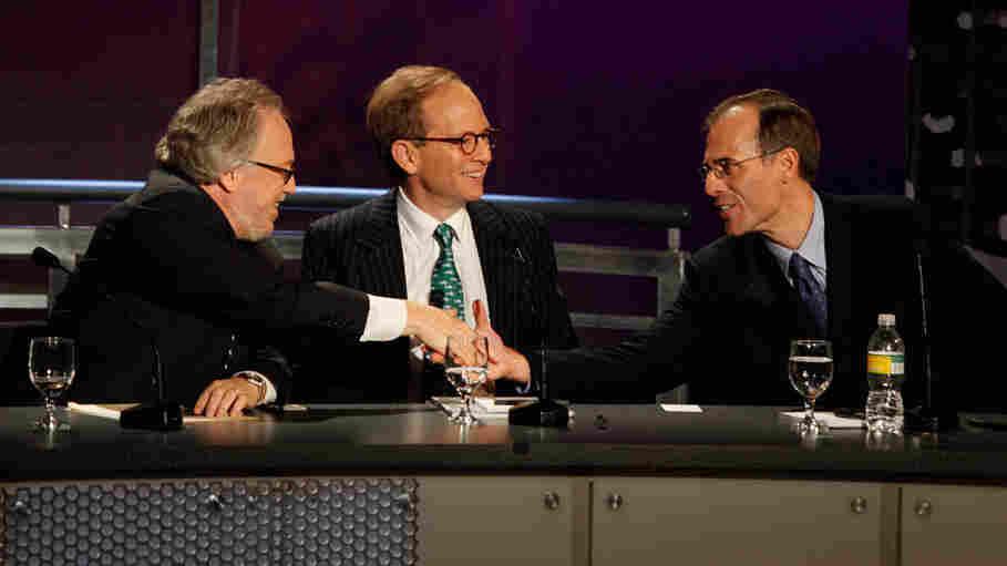 Lawrence Mishel, Steve Rattner and Mark Zandi