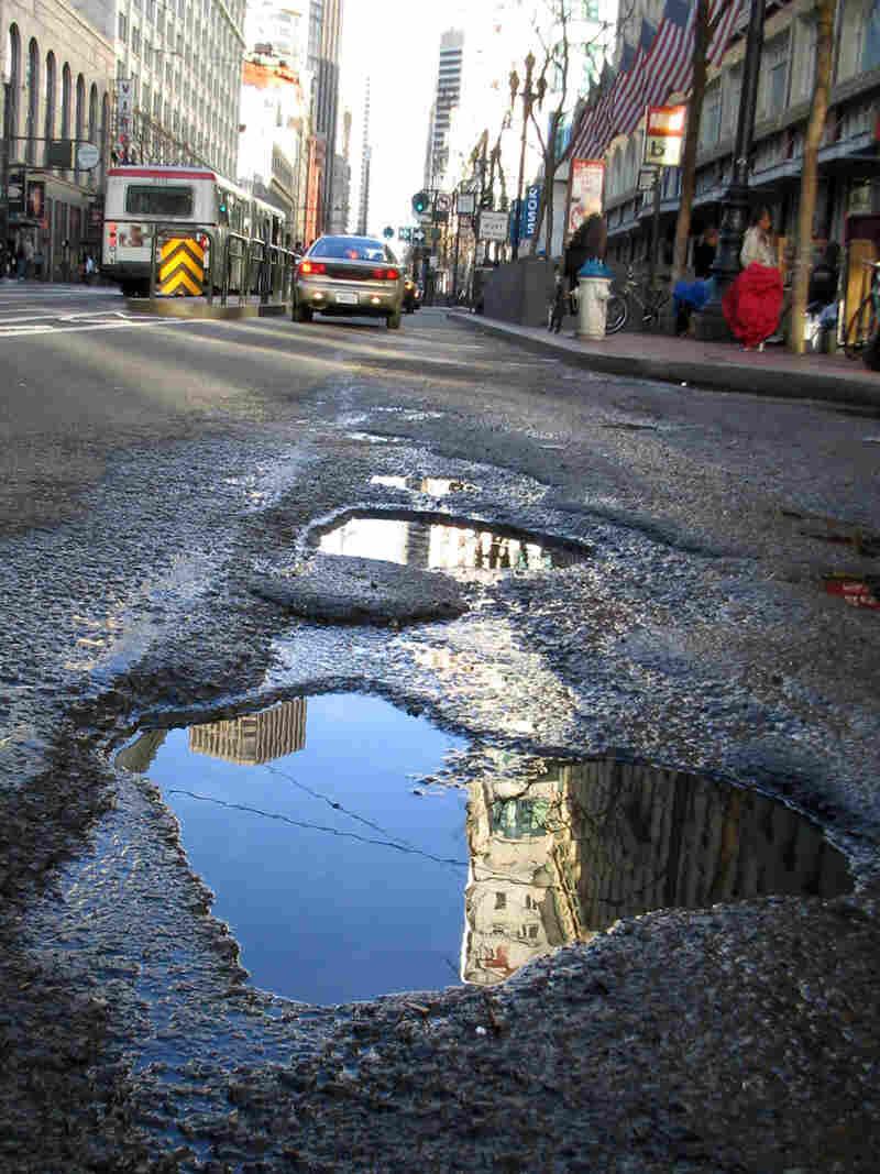 A San Francisco pothole