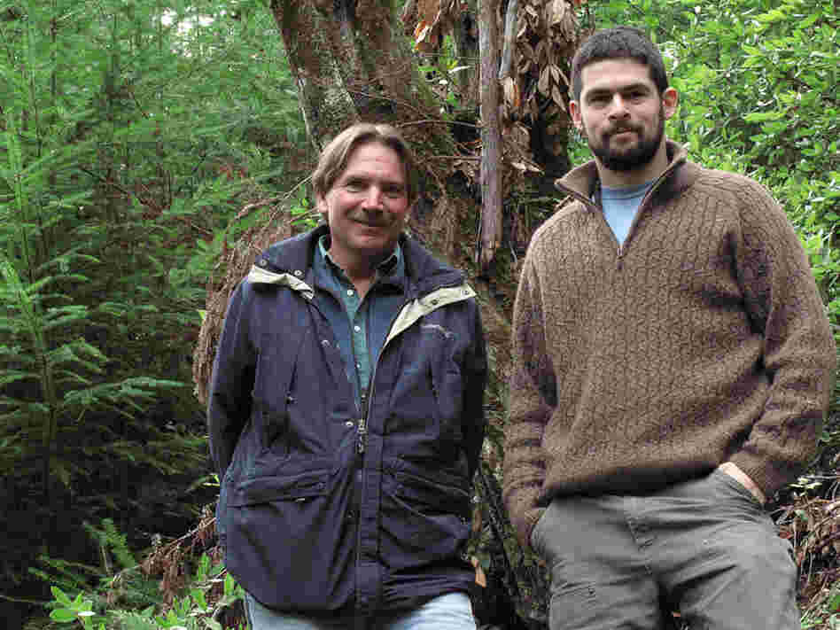 Chris Kelly and Jordan Golinkoff of the environmental group The Conservation Fund.  Are experienting