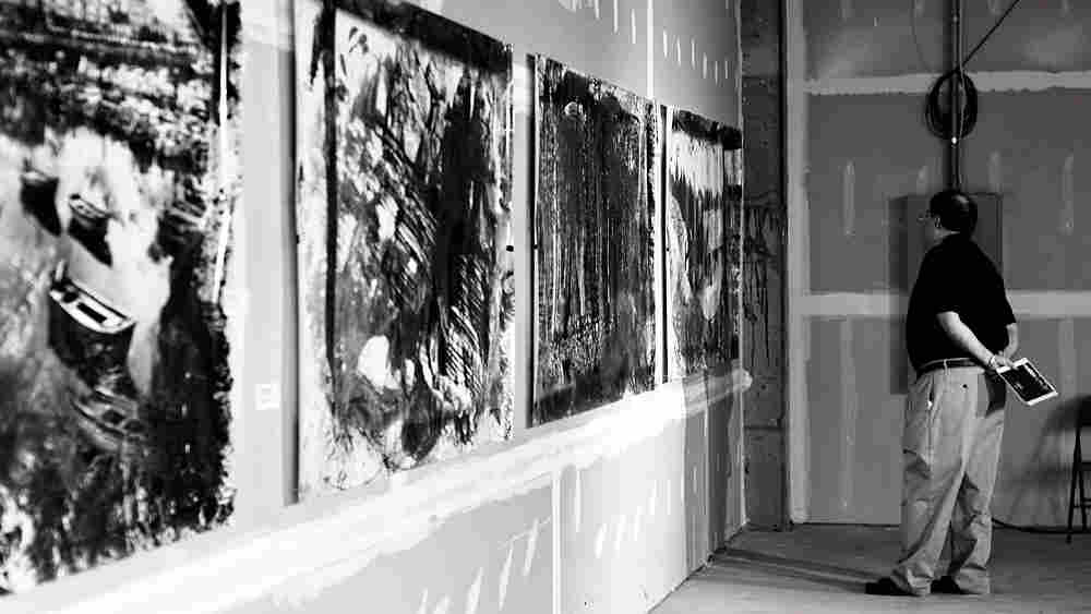 Irving's prints in a gallery