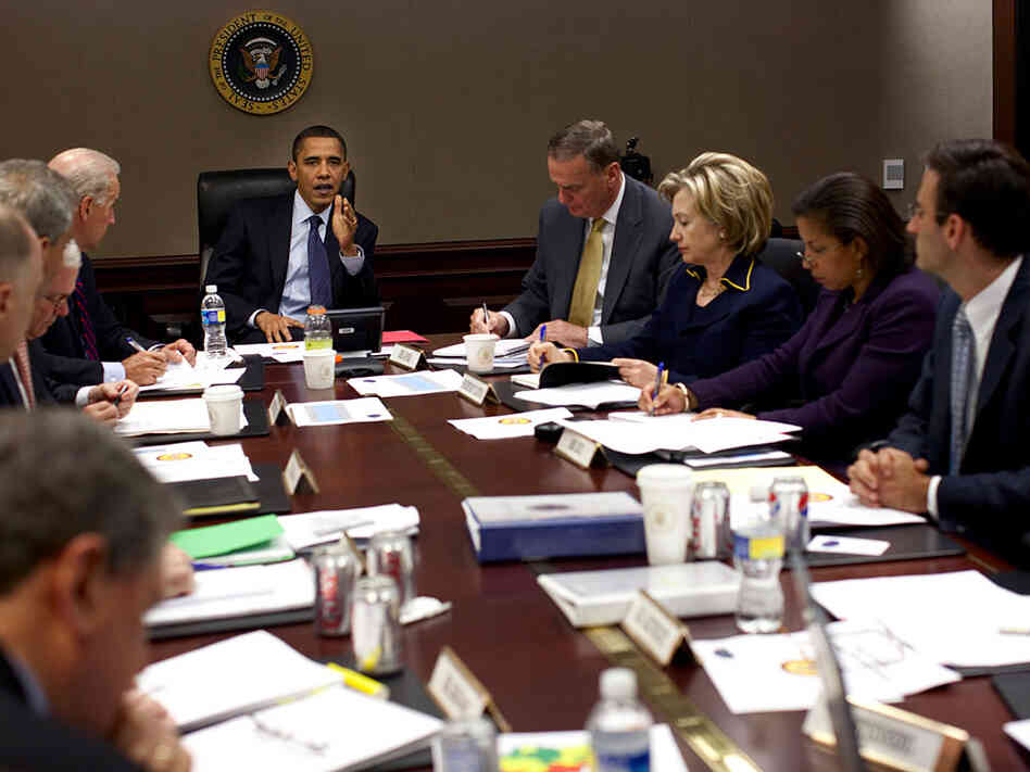 President Obama holds meeting in the Situation Room.