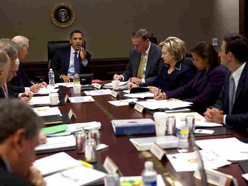 President Obama holds meeting in the Situation Room