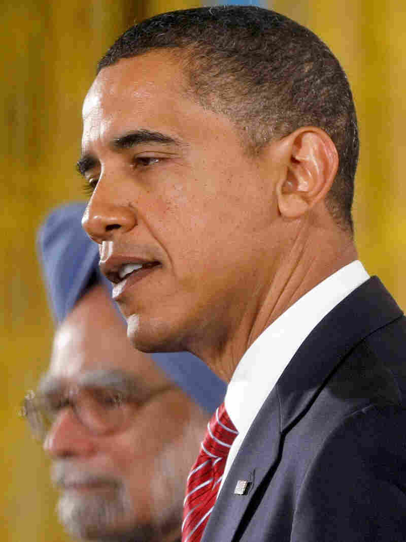 President Obama addressed questions about his strategy in Afghani