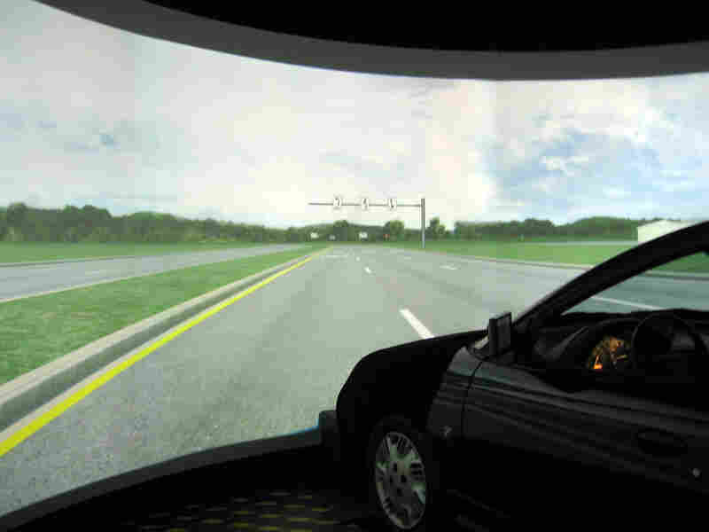 Simulator at Virginia Tech's Center for Automotive Safety Research