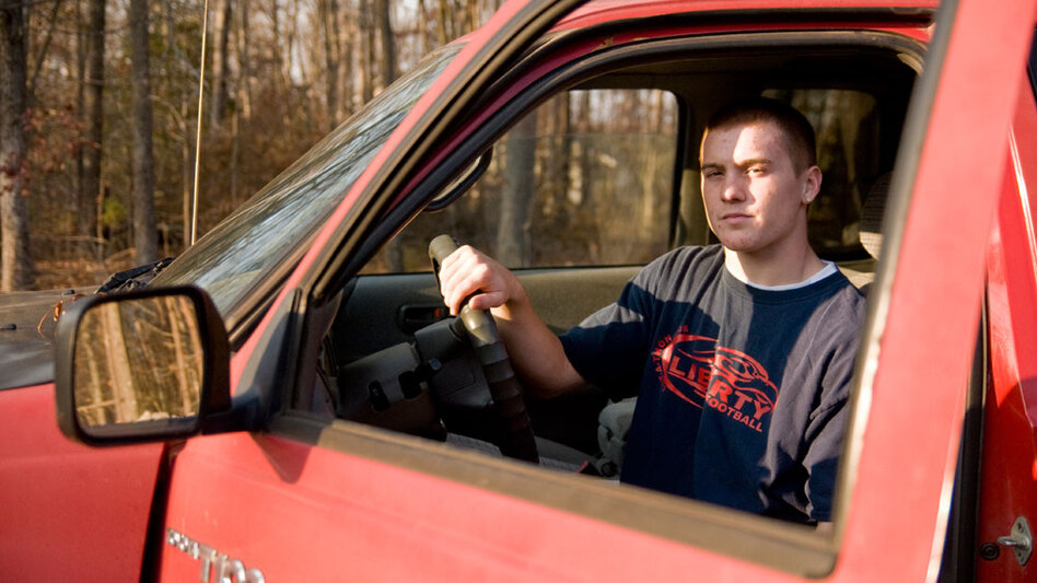 Basil Rynestead, 17, sits in the driver's seat of his Toyota pickup truck. New federal government numbers confirm that male drivers are still having twice as many fatal crashes as females. And the boys are more likely than the girls to have been speeding or drinking.