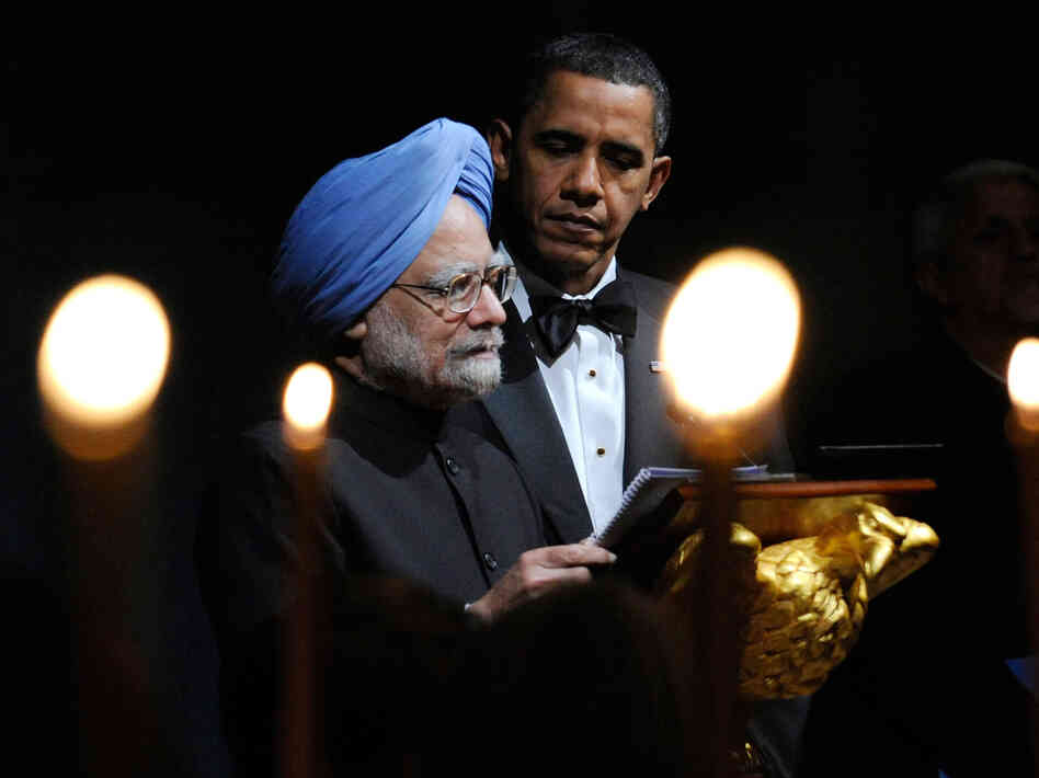 President Barack Obama and Indian Prime Minister Manmohan Singh