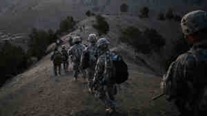 WIDE: U.S. soldiers in Paktika province in Afghanistan, near the Pakistan border in October 2009