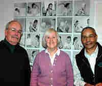 Ed Locke, Mary Whalen Leonard and Wray Gunn, former models for Norman Rockwell