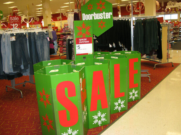 These bargain bins at Target in Rockville, Md., are filled with $5 pajamas. Many retailers said their cheapest items went first and fast on Black Friday.