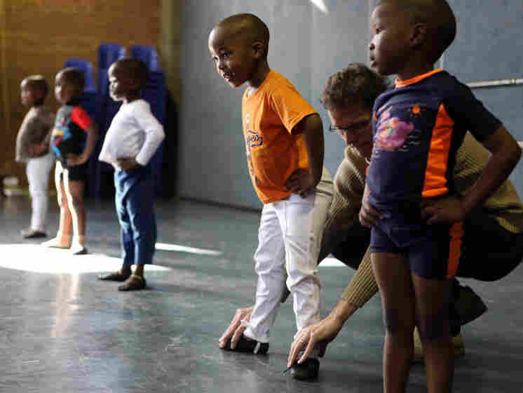 Dancers from the South African Ballet Theatre's outreach program in Alexandra.