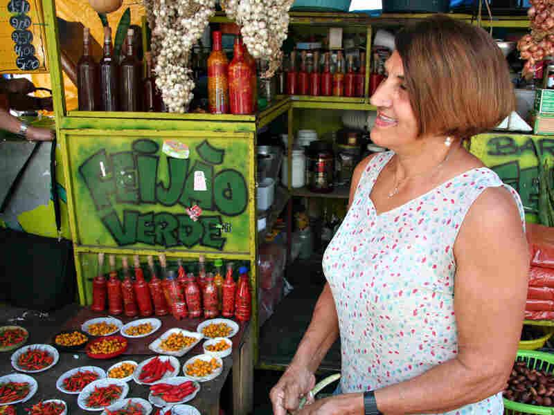 Teresina Lopes Vieira da Silva sells spices and peppers in Rio de Janeiro.
