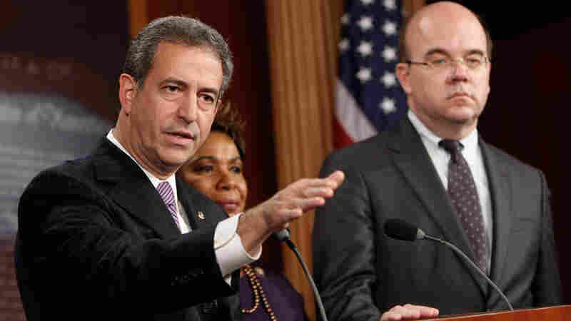 Sen. Russell Feingold (D-WI), Rep. Barbara Lee (D-CA) and Rep. Jim McGovern (D-MA)