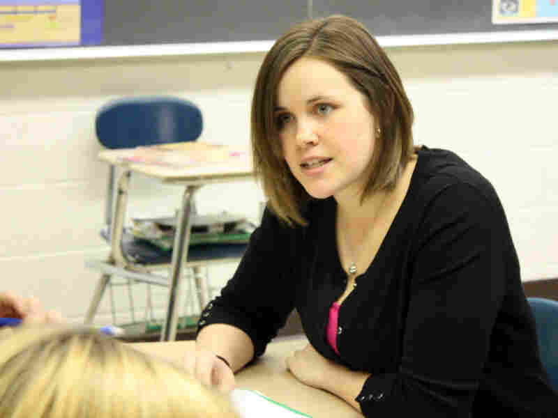 Katie Westin, a senior at the University of Michigan and a student teacher