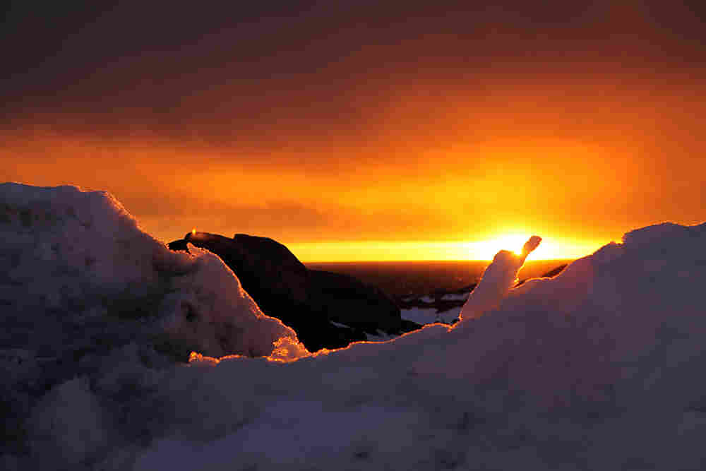 An Antarctic sunset.