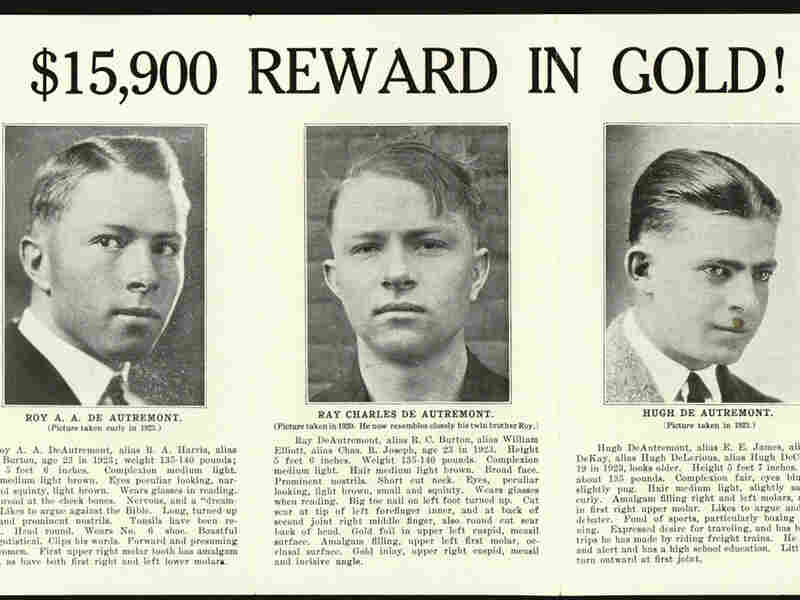 A 1923 wanted poster of the DeAutremont brothers