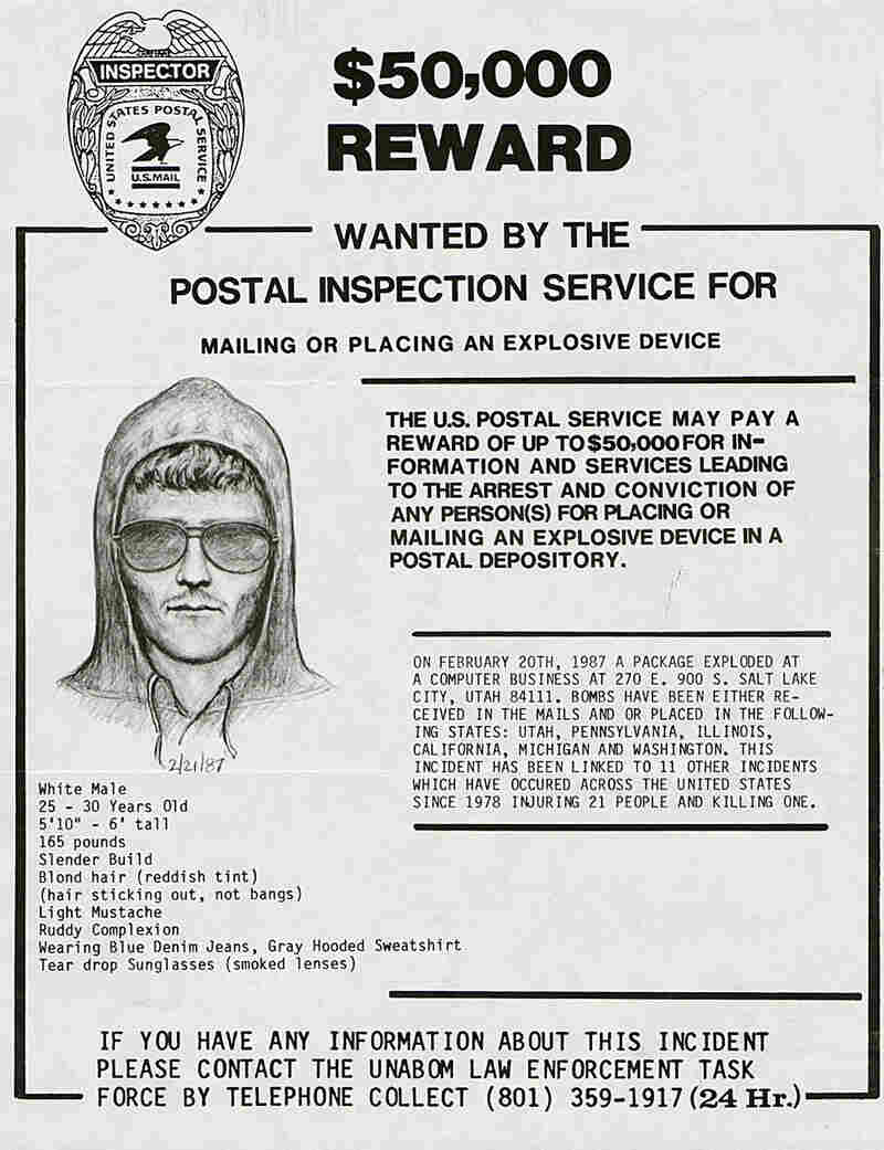 A 1987 wanted poster of the Unabomber