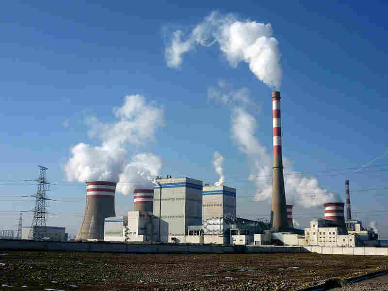 Coal-fired power plant  in Jiayuguan, Gansu province