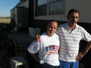 Herbie Rodriguez and his daughter, Erica, at their home in Dexter, N.M.