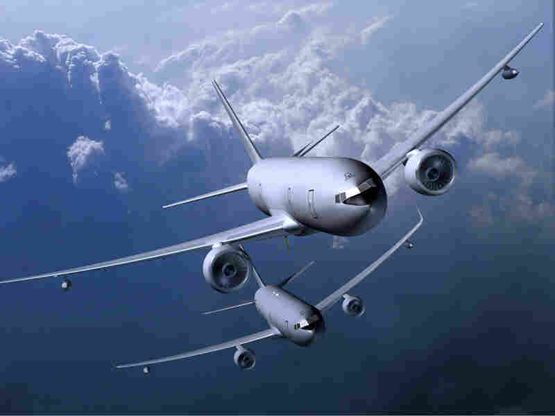 An illustration of Boeing's combat-ready KC-7A7 family of tankers.