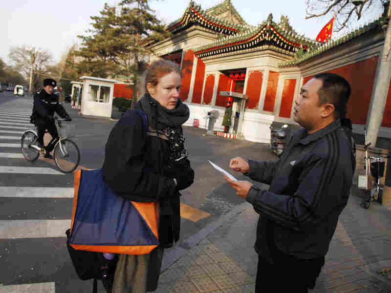 Julie Harms is a U.S. citizen living in China who is petitioning Beijing for justice for her fiance.