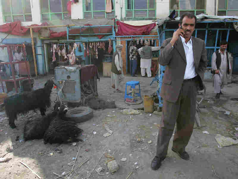 A man talks on his cell phone in Kabul, Afghanistan, in this 2007 photo.