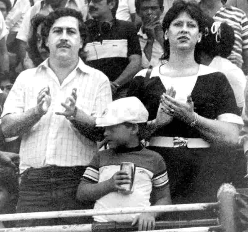 CUSTOM: Pablo Escobar, his wife and son in an undated photo