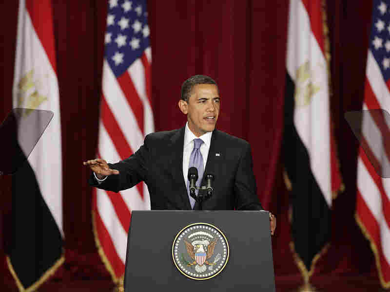 In June, Obama gave his much-anticipated speech addressing Muslims at Cairo University.