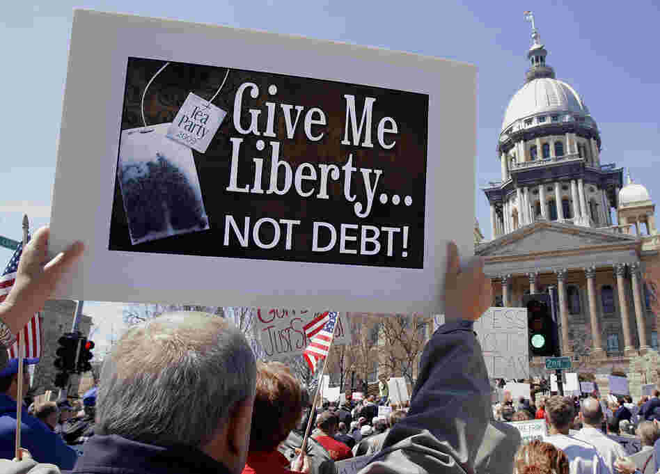 Tea Party activists in Springfield, Illinois, on April 15.