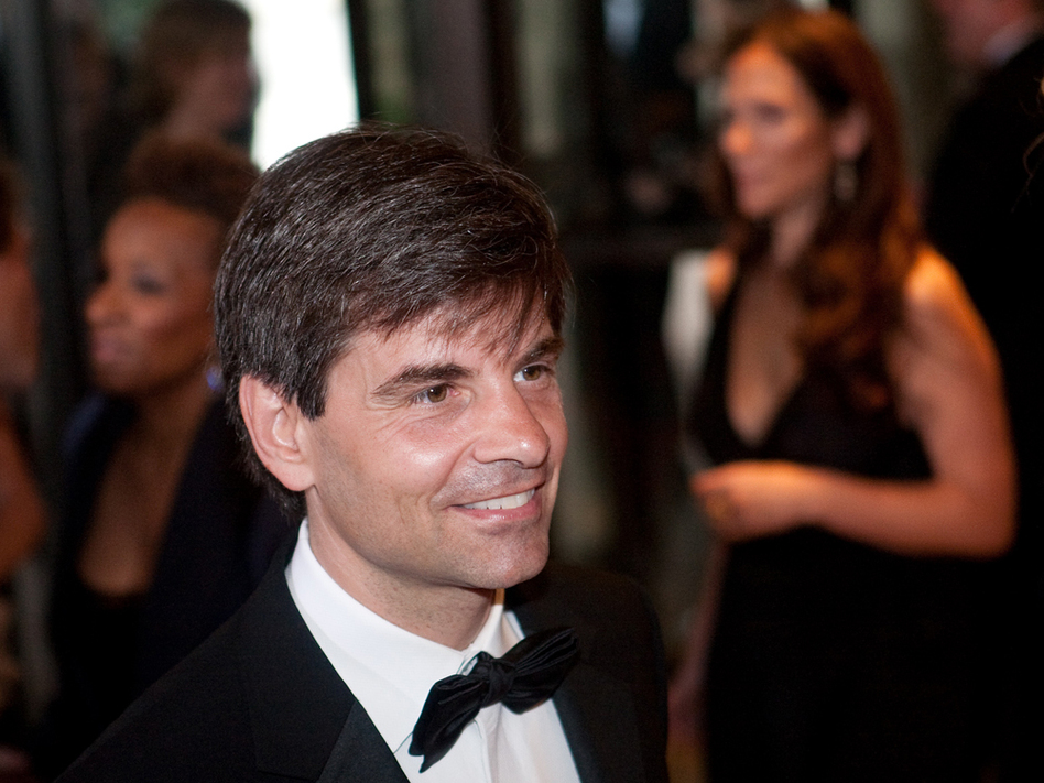 George Stephanopoulos at the White House Correspondents' Association dinner on May 9.